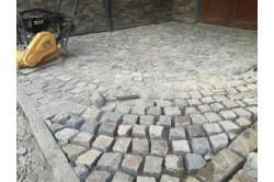 Andesite paving blocks