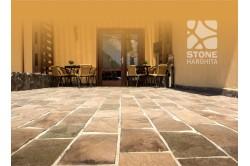Andesite sidewalk tiles